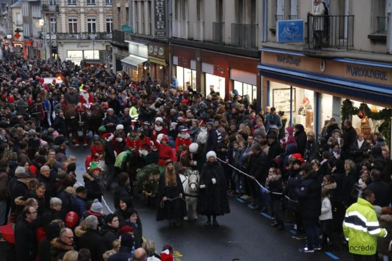 Présence du Centre-Équestre Mathilde Martel à la parade de noël de Coutances.